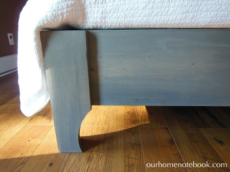 Building a bed - grey stain colour