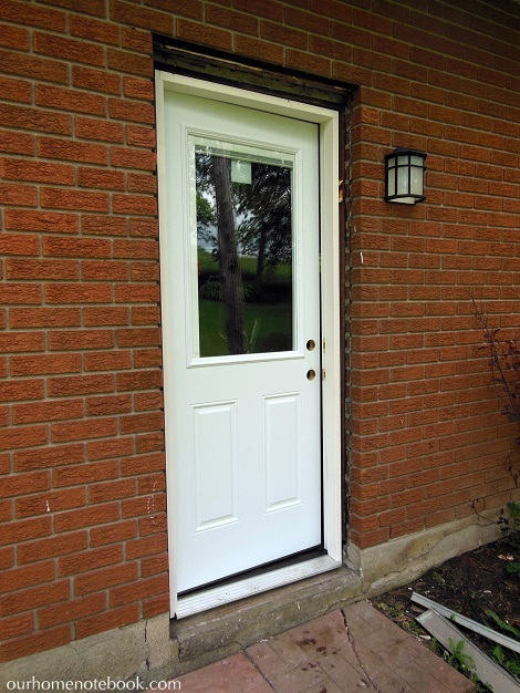 Exterior back doors for home home design for Front entry door installation