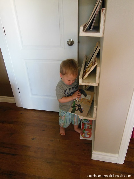 Picture Book Shelves - Brendan playing